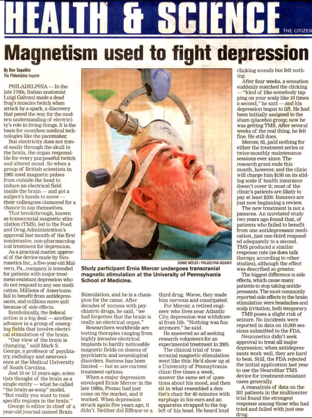 Magnetic Treatmen for Depression - PEMF India